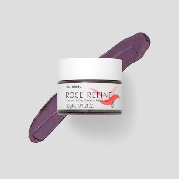 Rose Refine Charcoal Clay Clarifying Face Mask